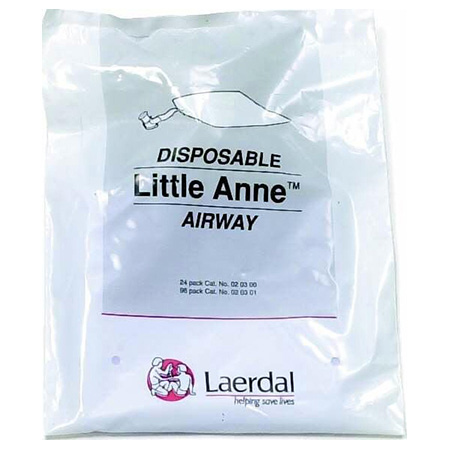 Airway Training Products Airway, Little Anne, Complete, Non-Rebreathing, Disposable, One-Way Valve, Package of 24