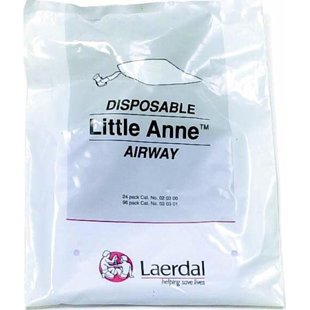 Airway Training Products Airway, Little Anne, Complete, Non-Rebreathing, Disposable, One-Way Valve, Package of 96