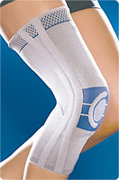 Genutrain p3, left, knee support, titanium, size 2