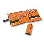 Airway Management ET Tube Holder Case, fld up style, orange, 28 1/2in X 13 3/4in, contents not included