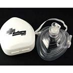 Resuscitation CPR Mask, Pocket Style, Universal, Pre-Inflated, O2 Port, Case, White