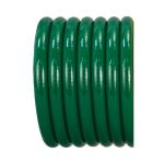 High Flow & Oxygen Equipment Oxygen Hose, O2, Green, Conductive, Kink Resistant, 1/4-in ID, 1-ft